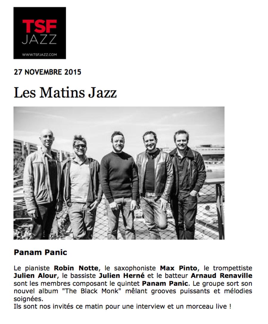 TSF matin jazz
